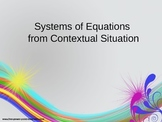 Solving Systems of Equations from Contextual Situations