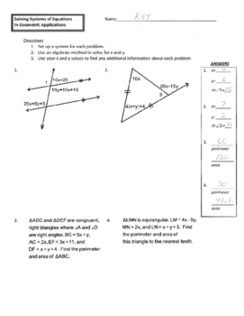 Solving Systems of Equations in Geometric Applications
