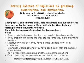 Solving Systems of Equations or Simultaneous Equations
