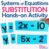 Solving Systems of Equations using Substitution Hands On Activity