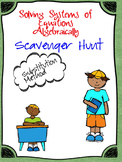 Solving Systems of Equations using Substitution (Scavenger Hunt)