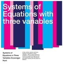 Solving Systems of Equations with three variables Scavenger Hunt