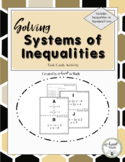 Solving Systems of Inequalities Task Cards Activity