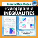 Solving Systems of Inequalities by Graphing Interactive Notebook Notes