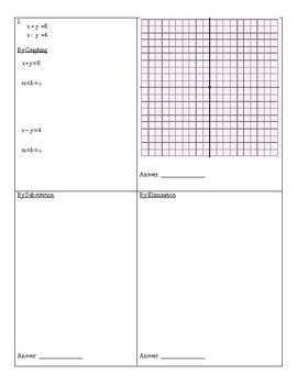 Solving Systems of Linear Equations 3 Ways