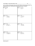 Solving Systems of Linear Equations Circuit Training