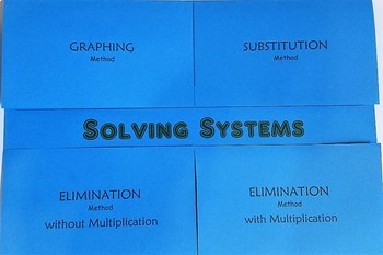 Solving Systems Foldable (A3F, A3G, A5C)