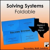 Solving Systems of Equations Foldable (A3F, A3G, A5C)