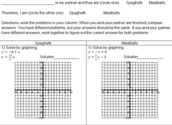 Solving Systems of Linear Equations Partner Problems