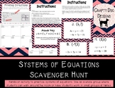 Solving Systems of Linear Equations Scavenger Hunt