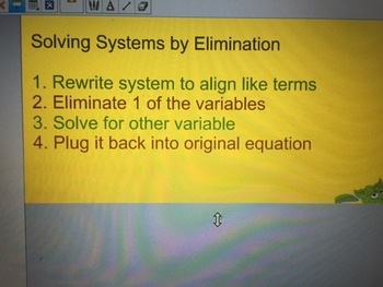 Solving Systems of Linear Equations Using Elimination