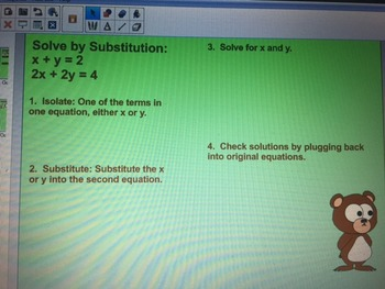 Solving Systems of Linear Equations Using Substitution