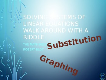 Solving Systems of Linear Equations Walk Around or Gallery Walk Riddle
