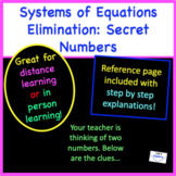 Systems of Equations (Elimination): Secret Numbers