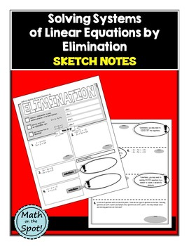 Solving Systems of Linear Equations by Elimination Sketch Notes