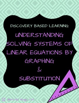 Solving Systems of Linear Equations by Graphing & Substitution through Discovery