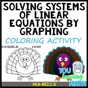 Solving Systems of Linear Equations by Graphing: Thanksgiving Coloring Activity