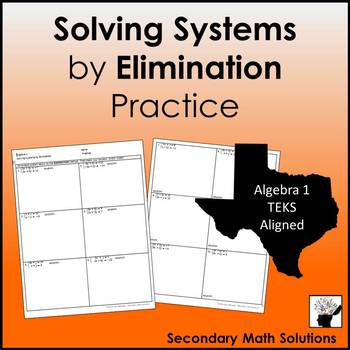 Solving Systems by Elimination Practice
