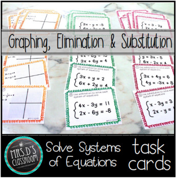 Solving Systems of Linear Equations task cards