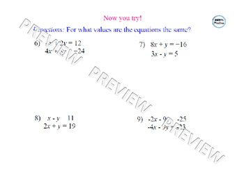 Solving Systems of Linear Equations using Elimination Lesson 1 of 2