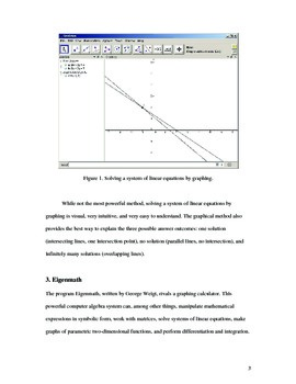 Solving Systems of Linear Equations with the Help of Free Technology