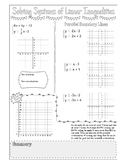 Solving Systems of Linear Inequalities Doodle Page