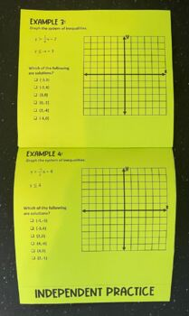 Solving Systems of Linear Inequalities (Foldable)