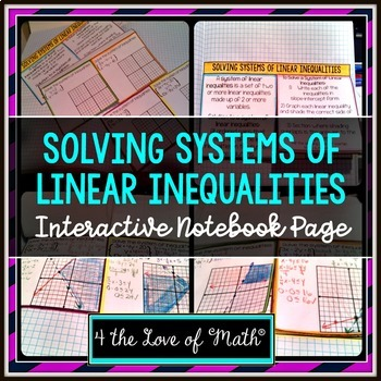 Solving Systems of Linear Inequalities: Interactive Notebo