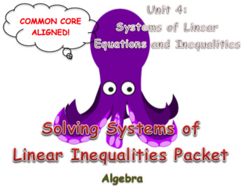 Solving Systems of Linear Inequalities Packet (Practice)
