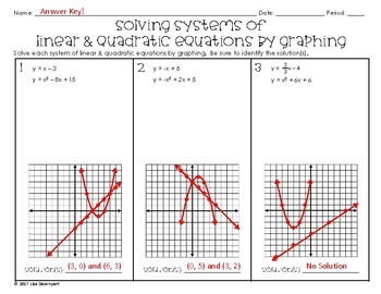 solving systems of linear quadratic equations by graphing practice worksheet - Solving Systems By Graphing Worksheet