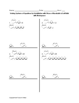 Solving Systems of Pictorial Equations by Substitution