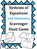 Systems of Equations with Elimination Scavenger Hunt