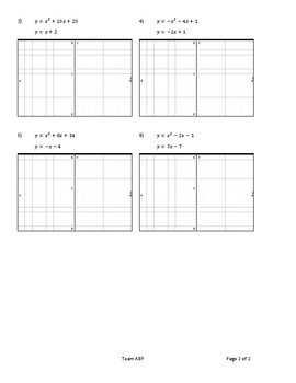 Solving Systems with Quadratic Equation (x3)