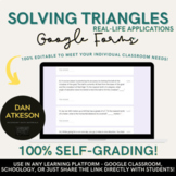 Solving Triangles Real World Applications | With 2 Trigonometry Google Forms™
