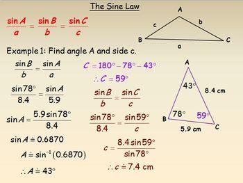 Solving Triangles Using Trigonometry