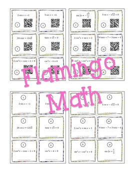 Solving Trigonometric Equations Task Cards QR Codes (PreCalculus - Unit 5)