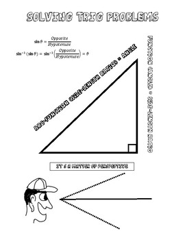 Solving Trig Problems Doodle Notes