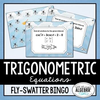 Solving Trigonometric Equations Bingo Game