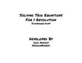 Solving Trigonometric Equations Scavenger Hunt