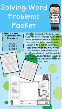 Solving Two-Digit Multi-Step Word Problems with Graphic Organizer