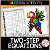 Solving Two Step Equations Coloring Activity