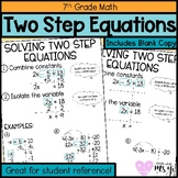 Solving Two Step Equation Anchor Chart