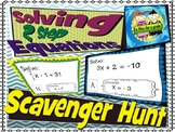 Solving Two Step Equation Scavenger Hunt