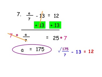 Solving Two Step Equations (Instructional PowerPoint & Assignment)