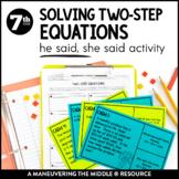 Solving Two-Step Equations: He Said, She Said
