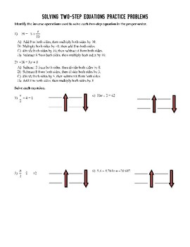 Solving Two-Step Equations (Free, Incomplete)