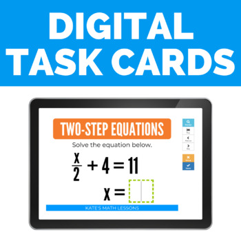 Solving Two-Step Equations Boom Cards