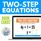 Solving Two-Step Equations Boom Cards™ - Digital Activity