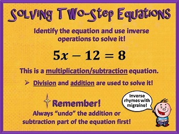 Two-Step Equations - Bundled Unit