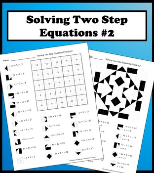 solving two step equations color worksheet practice 2 by aric thomas. Black Bedroom Furniture Sets. Home Design Ideas